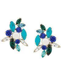 Shourouk Swarovski Crystal Earrings - Blue
