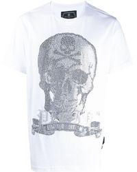 Philipp Plein - Platinum スカル Tシャツ - Lyst