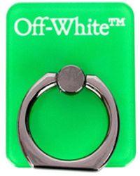 Off-White c/o Virgil Abloh ロゴ スマホリング - グリーン