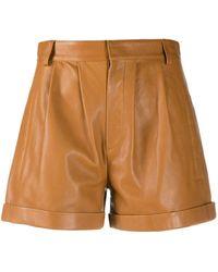 FEDERICA TOSI High Waist Shorts - Bruin