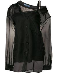 Prada - レイヤード シルクシャツ - Lyst