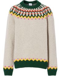 Burberry Maglione Fair Isle - Multicolore
