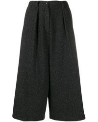 Dusan Cropped Palazzo Trousers - Grey