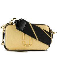 Marc Jacobs Snapshot Bag In Gold Leather With Polyurethane Coating - Metallic