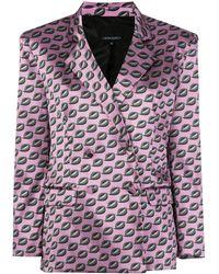 Cynthia Rowley Breslin Double Breasted Blazer - Purple