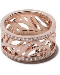 De Beers 18kt Rose Gold Aria Diamond Band - Multicolor
