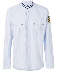 Balmain Patch shield shirt - Bleu
