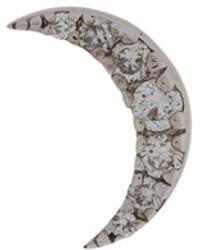 Kismet by Milka Orecchino a forma luna in oro rosa 14kt e diamanti - Metallizzato