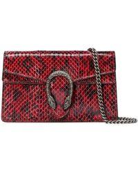 Gucci Dionysus Super Mini Snakeskin Bag - Red