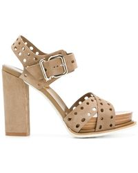 Tod's - Perforated Sandals - Lyst