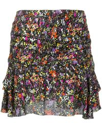 10 Crosby Derek Lam Floral Flounce Mini Skirt - Black