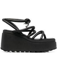 Vic Matié Strappy Platform Sandals - Black