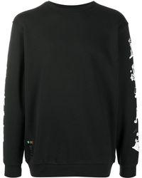 adidas プリント ロングtシャツ - ブラック