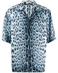 Roberto Cavalli Рубашка С Принтом Heritage - Синий