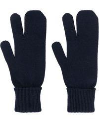 Maison Margiela Трикотажные Перчатки - Синий