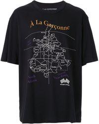 À La Garçonne + Hering Tシャツ - ブラック