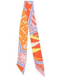 Hermès Jeu De Soie Uniforme Twilly Scarf - Orange