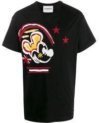 Iceberg Mickey Mouse Tシャツ - ブラック