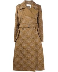 Chloé Quilted Trench Coat - Green