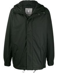 Rains キルティング パーカーコート - ブラック