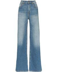 Rockins High Waist Wide Leg Jeans - Blue