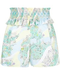 Emilio Pucci - Ruffled Floral Shorts - Lyst