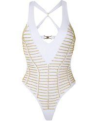 Amir Slama Back Cross Straps Swimsuit - White
