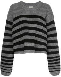 Khaite ストライプ セーター - グレー