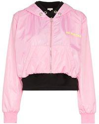 Natasha Zinko Nz Kurtka Print Double Layered Cotton Hoodie Jacket - Roze
