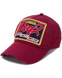 DSquared² Cappello da baseball con applicazione - Rosso