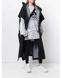adidas X Hyke オーバーサイズ コート - ブラック