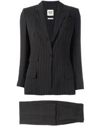 Hermès Completo gessato - Nero