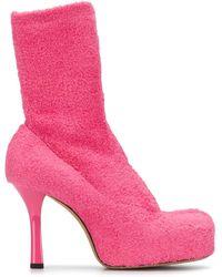 Bottega Veneta Ботильоны На Платформе - Розовый