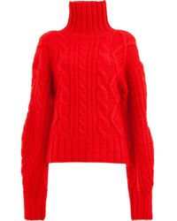AALTO Cable-knit Sweater - Red