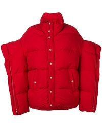 Junya Watanabe Oversized Puffer Jacket - Red