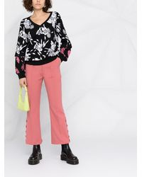 Liu Jo フローラル スウェットシャツ - ブラック
