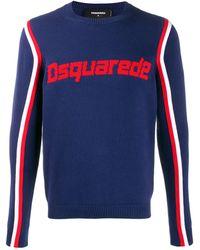 DSquared² Jersey con detalle del logo - Azul