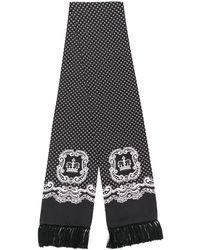 Dolce & Gabbana Seidenschal mit Bandana-Print - Schwarz