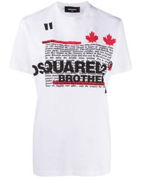 DSquared² Graphic Print T-shirt - White