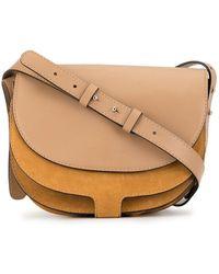Erika Cavallini Semi Couture Panelled Saddle Shoulder Bag - Yellow