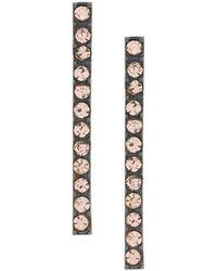 FEDERICA TOSI - Crystal Drop Bar Earrings - Lyst