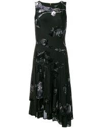 DKNY - Floral Print Layered Dress - Lyst
