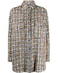 IRO Bleoma Plaid Tweed Shirt - Multicolor