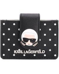 Karl Lagerfeld Portemonnee Met Logo - Zwart