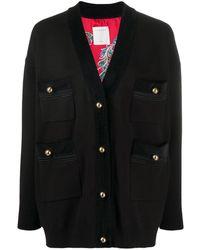 Sandro Cardigan à poches plaquées - Noir
