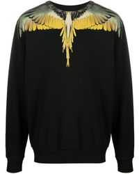 Marcelo Burlon Wings ロングtシャツ - ブラック