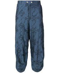 Kiko Kostadinov - Embroidered Dropped Crotch Trousers - Lyst