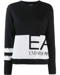 EA7 Logo Print Sweater