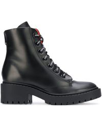 KENZO Lace Up Boots - Black