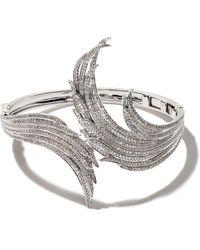 AS29 18kt White Gold Ocean Diamond Cuff - Metallic